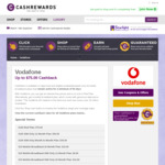 $15 Cashback on Vodafone Prepaid 20GB $25 Mobile Data SIM (180 Day Expiry) @ Cashrewards