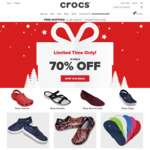 70% off Selected Styles + Free Shipping for 2 Days Only @ Crocs
