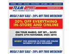 20% off Everything @ Amart All Sport this Weekend, can be used in conjunction with $20 Pass