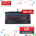 Armaggeddon MKA-9C Black Switch 7 Color LED Backlight Mechanical Gaming Keyboard $39 + $5 Postage @ MSY eBay