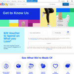 eBay Free $20 Voucher - New or Inactive (12+ Months) Users Only