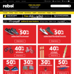 Free Shipping - No Minimum Spend (eg. Cricket Bat Shield + Sandpaper $7.79 Delivered) @ Rebel Sport