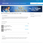 [NSW] 2 for 1 Ticket Offer (from $14.95 Ea) for Alice in Wonderland Live (State Theatre, Sydney)