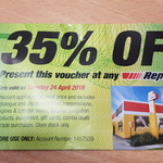 35% off Storewide on Tuesday 24 April @ Repco (Exclusions Apply)