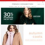 30% off Site-Wide + Free Shipping on Orders over $80 @ French Connection