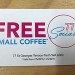 [WA] Free Coffee in Perth CBD - Social 77 (Valid 7/5 - 11/5) @ St George Terrace
