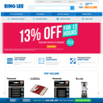 13% off for 13 Hours @ Bing Lee e.g. Hisense 75N7 $2175, 65N7 $1300, 65N6 $1127