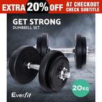 Everfit 20kg Dumbbell Set $39.92 Delivered @ OzPlaza eBay