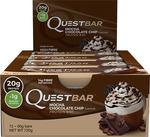 Quest Protein Bars - Box of 12 - Chocolate Chip Mocha - $29.95 Plus Free Delivery @ SHN