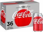 36 Pack Diet Coke & Coke No Sugar $20.66 + Delivery (Free with Prime/ $49 Spend) @ Amazon AU