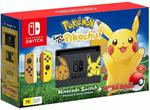 Nintendo Switch Pikachu/Eevee Edition + Let's Go Game + Pokeball Plus $539.10 Delivered @ Amazon AU