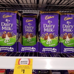 Cadbury Dairy Milk with CC/Kettle Sea Salt 190g Block $1 @ Coles