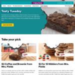 Optus Perks - Coffee and Brownie $2 | 10 Pack of Nibblers $2 @ Mrs Fields