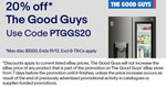20% off The Good Guys @ eBay