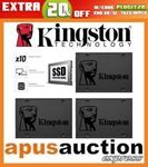 Kingston A400 SSD 120GB $29.56, 240GB $42.36, 480GB $79.16 + Delivery (Free with eBay Plus) @ Apus Auctions eBay