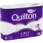 Quilton 3 Ply White Toilet Tissue - 6 Pack $2.75 (Was $5.50) @ Coles