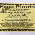 [VIC] Free Plants (Physical Voucher Required) @ Kuranga Native Nursery, Mt Evelyn