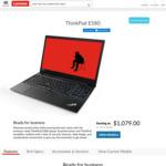 """Lenovo ThinkPad E580 15.6"""" FHD, i7-8550U, 8GB RAM, 256GB SSD, RX 550 2GB $1079 Delivered @ Lenovo"""