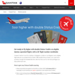 Earn Double Status Credits on Eligible Qantas Operated Flights @ Qantas