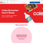 [eBay Plus] Free Delivery When You Spend over $49 @ Coles eBay (Metro Areas of Sydney NSW, Melbourne VIC, Brisbane QLD)
