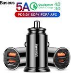 Baseus 30W Quick Charge 4.0 3.0 USB Car Charger QC4.0 QC3.0 QC Fast PD USB C US $4.11 (~AU $5.77) @ Baseus via Aliexpress