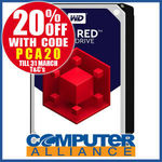 """Western Digital Red NAS 4TB 3.5"""" $143.2 + $15 Delivery (Free with eBay Plus) @ Computer Alliance eBay"""