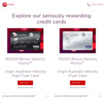 Virgin Australia Velocity Flyer Card 75,000 Bonus Velocity Points (Reduced 1st Year Annual Fee $64)