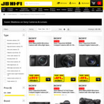 20% off Sony Cameras and Lenses (e.g Sony Cybershot RX100 $479.2, Sony Alpha A7 Full Frame $1079 and More) @ JB Hi-Fi