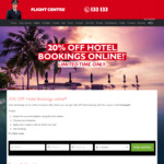 20% off Hotels at Flight Centre for Click Frenzy