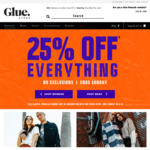 25% off Storewide + Free Delivery for Orders > $75 @ Glue Store