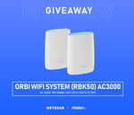Win a NetGear Orbi RBK50 AC3000 Tri-Band Wi-Fi Router System from Mwave
