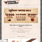 Free Express Post Shipping (36000th Order Celebration) - Save $8.99 @ Biltong to Go