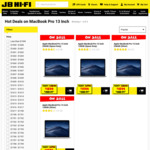 "$200 off Selected 13"" MacBook Pro Models @ JB Hi-Fi"