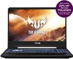 """ASUS TUF FX505DT 15.6"""" 120hz IPS AMD Ryzen 7 512GB 8G GTX 1650 Laptop $1,076 + $15 Shipping ($0 with Plus) @ Futu Online eBay"""