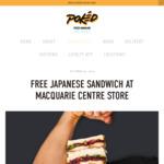 [NSW] Free Japanese Sandos Via Pokéd App @ Pokéd (Macquarie Centre)