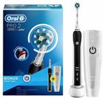 Oral-B Pro 2 2000 Cross Action Electric Toothbrush - Black $79 @ Shaver Shop