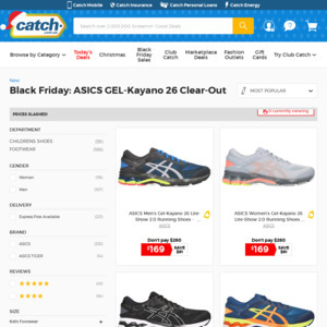 black friday asics running shoes