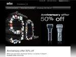 Braun Shavers 50% off