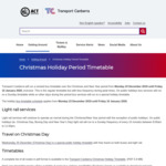 [ACT] Free Travel on Buses and Light Rail on Christmas from Transport Canberra