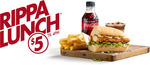 ½ Rippa Snack Roll, Small Chips + Gravy Mash Potato & 250ml Coke No Sugar $5 @ Red Rooster (Till 4PM each day)