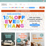 Temple and Webster 10% off (Excludes Brand: Plum, Kidkraft, Dwell) Min $150