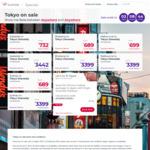 Tokyo, Japan from Sydney $689, Brisbane $689, Melbourne $699, Adelaide $732, 10% off Packages with Code @ Virgin Australia