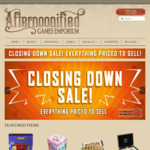 Afternoonified Closing down Sale - Board Games/Trading Card Games/Dice/etc - Online Only + Delivery (Free for Orders over $300)