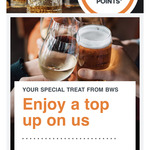 2000 Bonus Reward Points When You Shop @ BWS via Woolworths Rewards