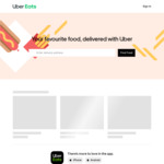 UberEATS - New User - Free Meal up to $30