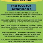 [SA] Free Vegetarian Meals for Elderly/Battlers/Jobless @ Blue Lake Indian Restaurant Mt Gambier