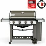 [VIC] Weber Genesis II E410 - Smoke Colour - LPG (4 Burner) $1099 (Save $400) @ Heat & Grill (Richmond and Highpoint)