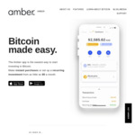$5 AUD of Free Bitcoin via Referral After First Deposit @ Amber App
