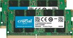 Crucial 32GB Kit (16GBx2) DDR4 2667MHz (PC4-21300) SODIMM Laptop Ram $203.33 + Delivery (Free with Prime) @ Amazon US via AU