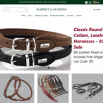 Classic Round & Soft Elk Leather Dog Collars $44.10, Leash and Harness by Hunter 30% off + Free Shipping @ Harriet & Hudson